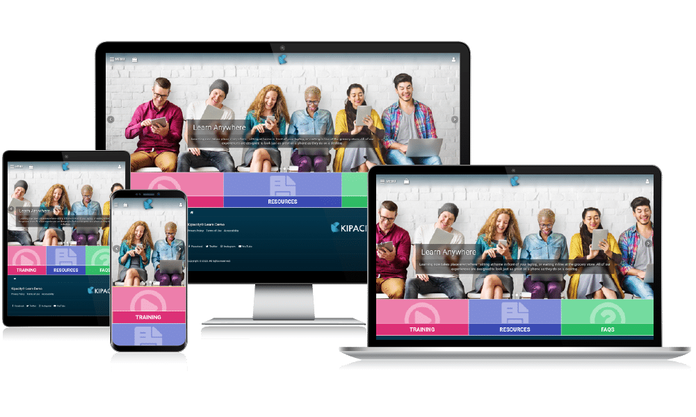 The Kipacity Training Platform takes online learning to any device, anywhere